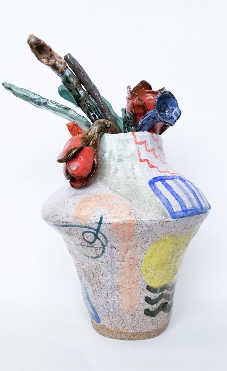 A ceramic vase by Jessica Perelman.