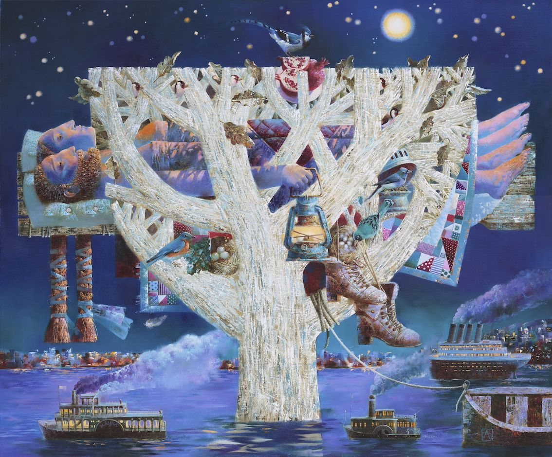 Anna Berezovskaya_Dreaming on a starry night