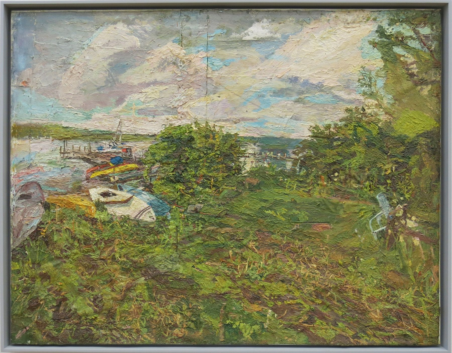 Boat on the Beach, Lake Chautauqua, 2013, Oil on Canvas
