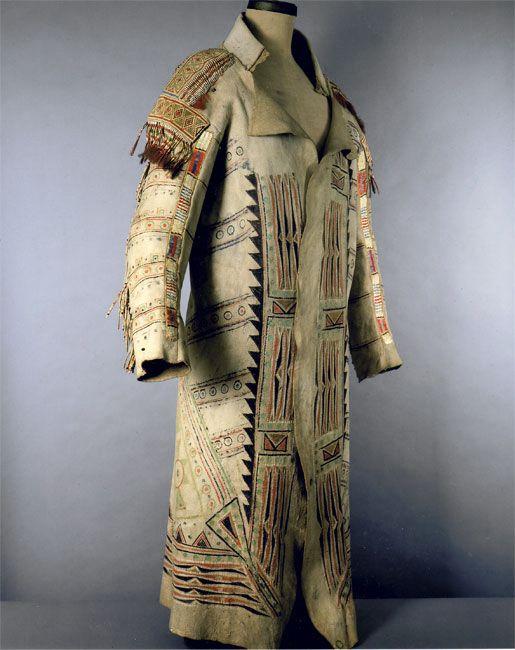 OJIBWA/ METIS COAT, ca. 1780, hide, porcupine quills, bird quills