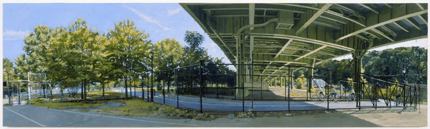 Under the Westside Highway at 145th Street: The Bike Path No. 1, 2009