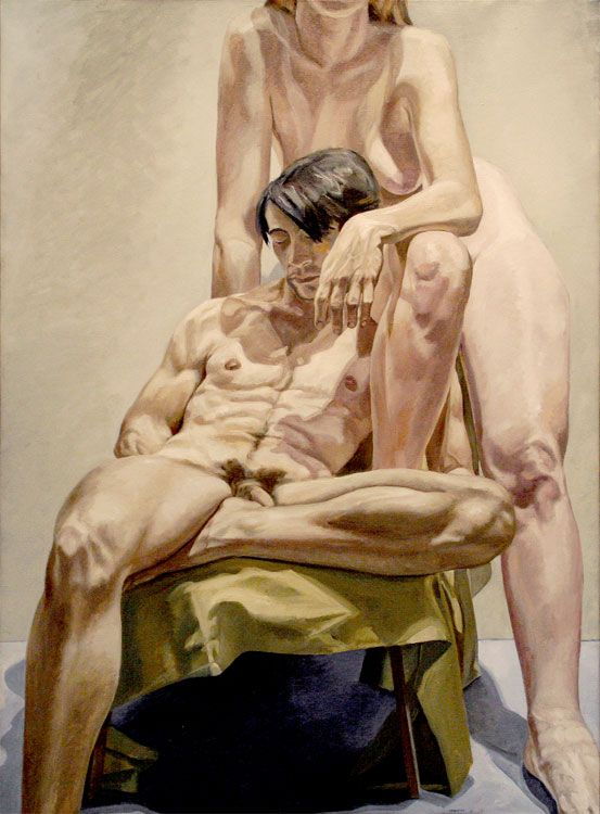 MODELS IN THE STUDIO, 1965, Oil on canvas
