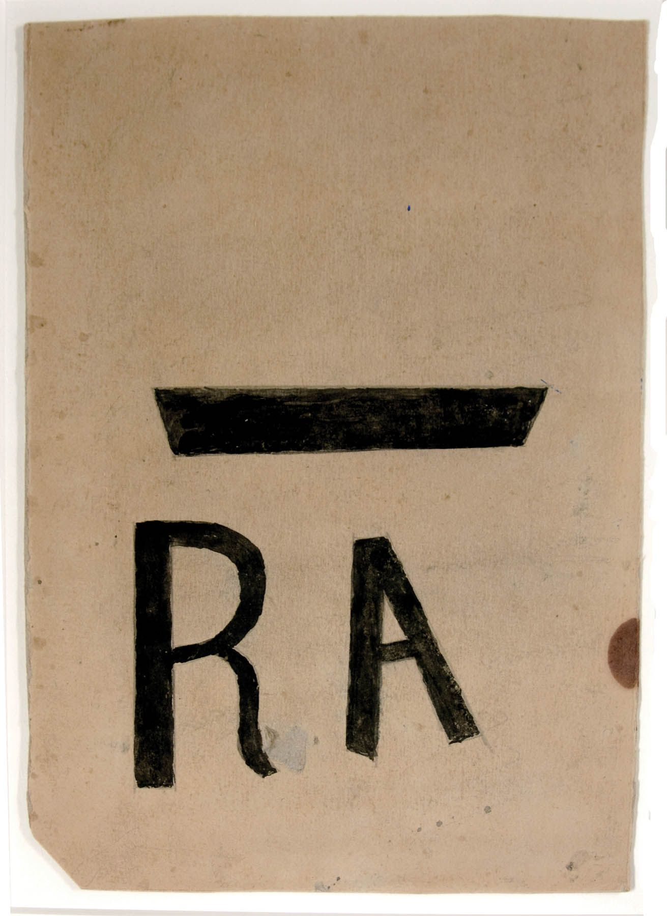 RA Poster (Resettlement Administration), c. 1939-1942, Pencil and Poster Paint on Cardboard
