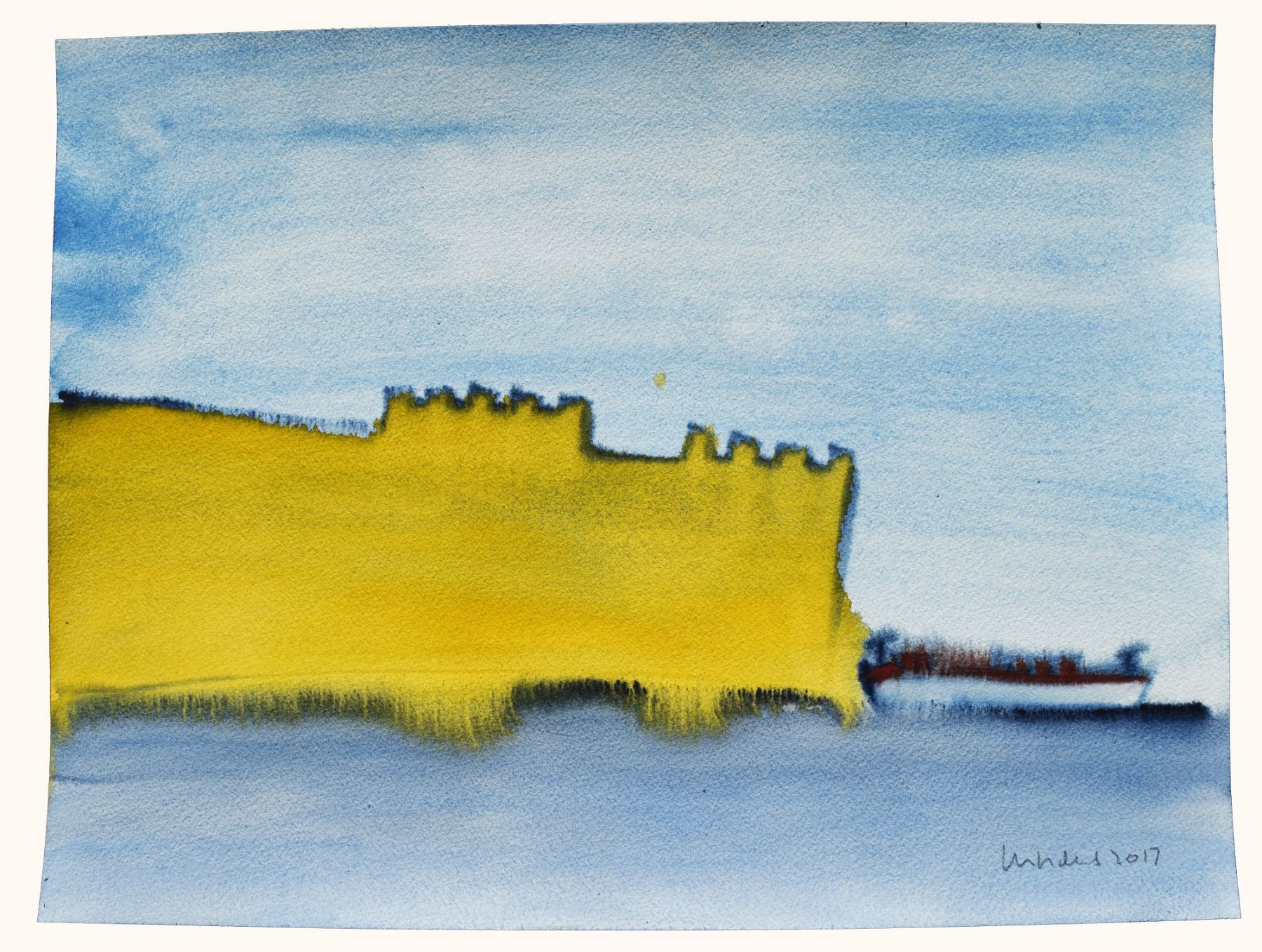 Fort Matanzas, 2017, Watercolor on paper