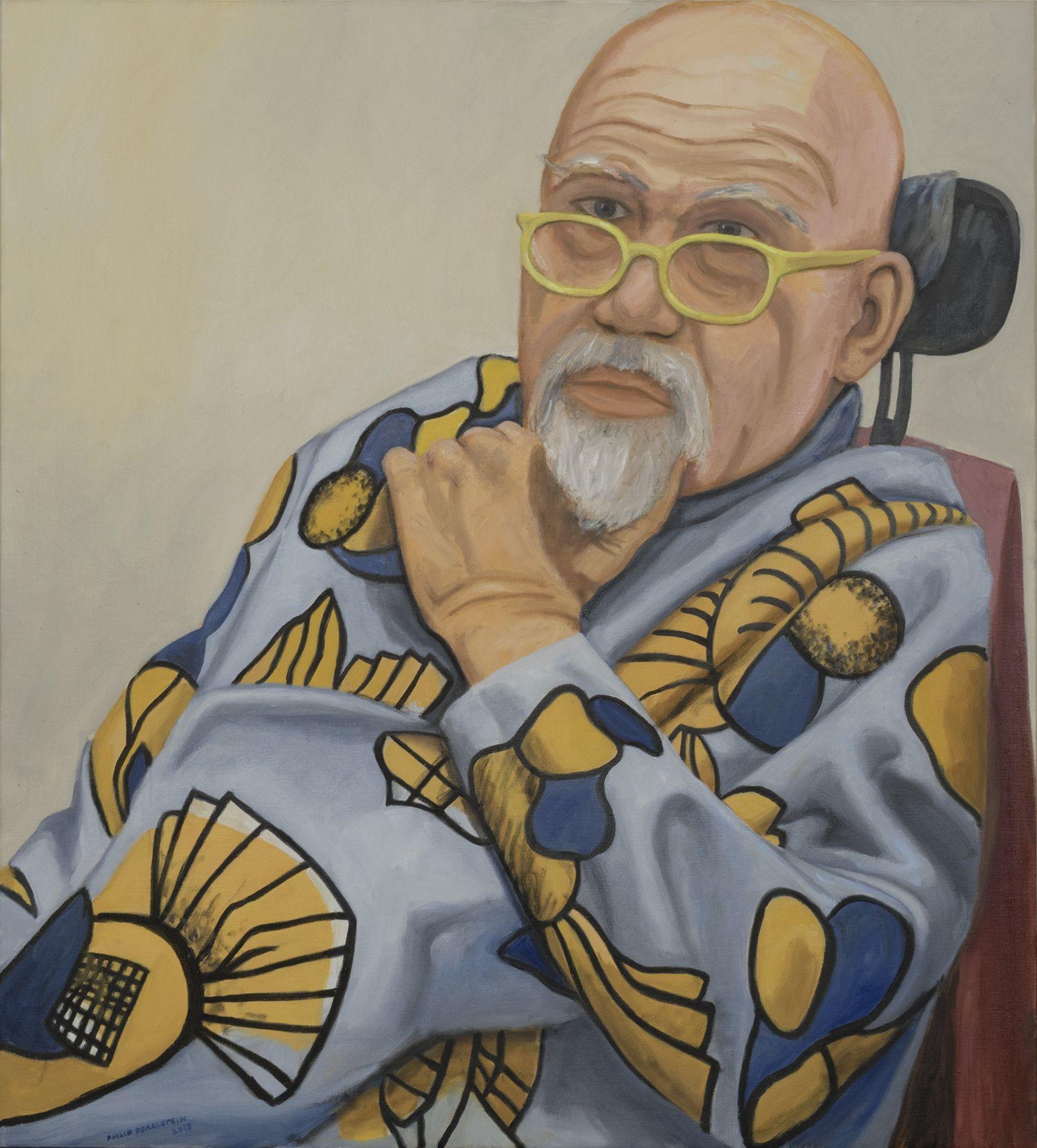 Portrait of Chuck Close, 2016, Oil on canvas
