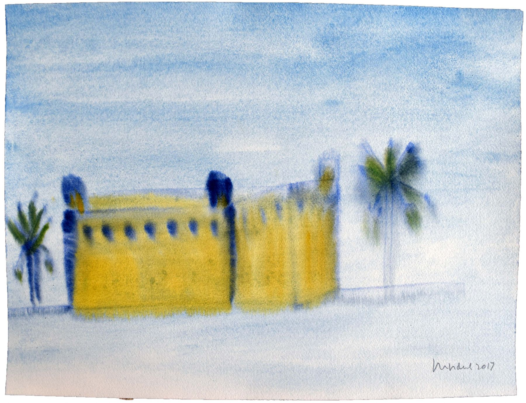 Fort Matanzas I, 2017, Watercolor on paper