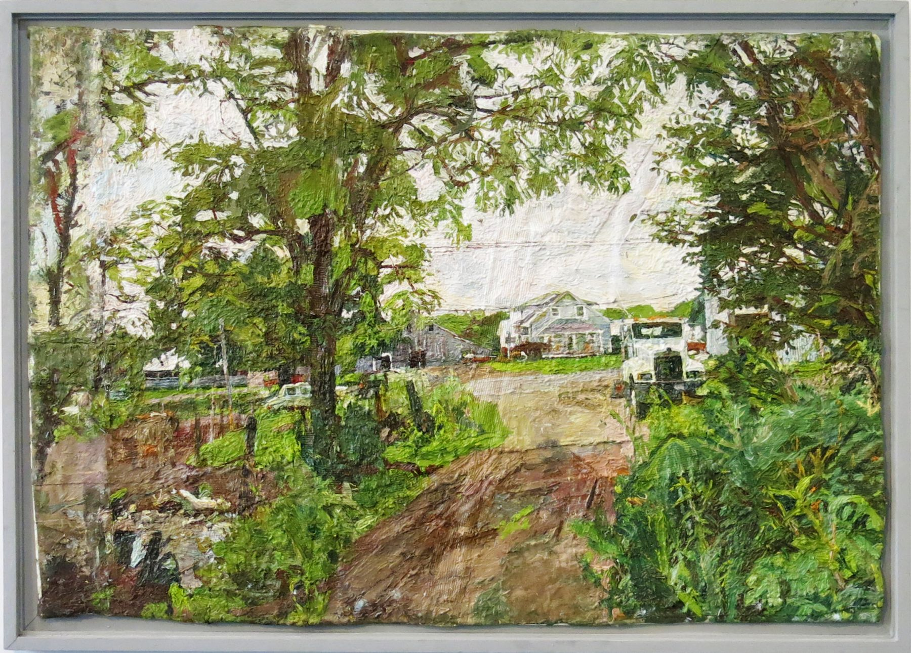 Matt Farnham's Farm with Truck, 2014, Oil on Canvas