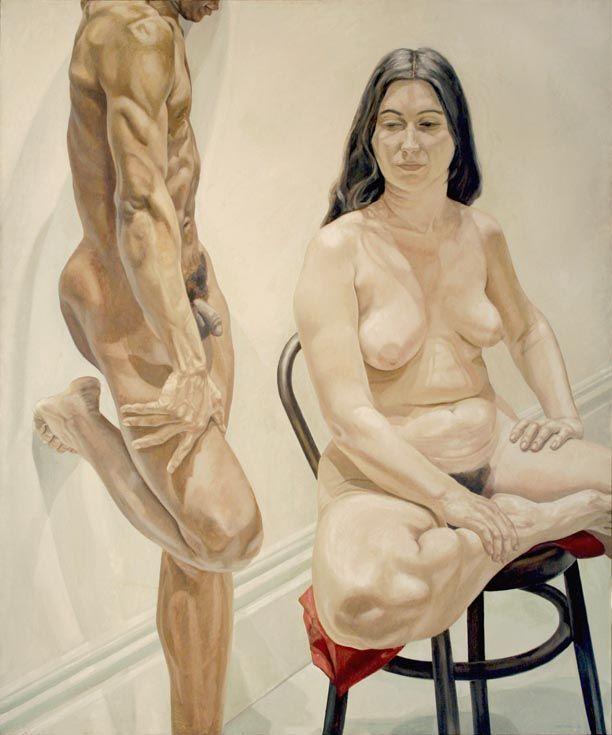 Philip Pearlstein, STANDING MALE, SITTING