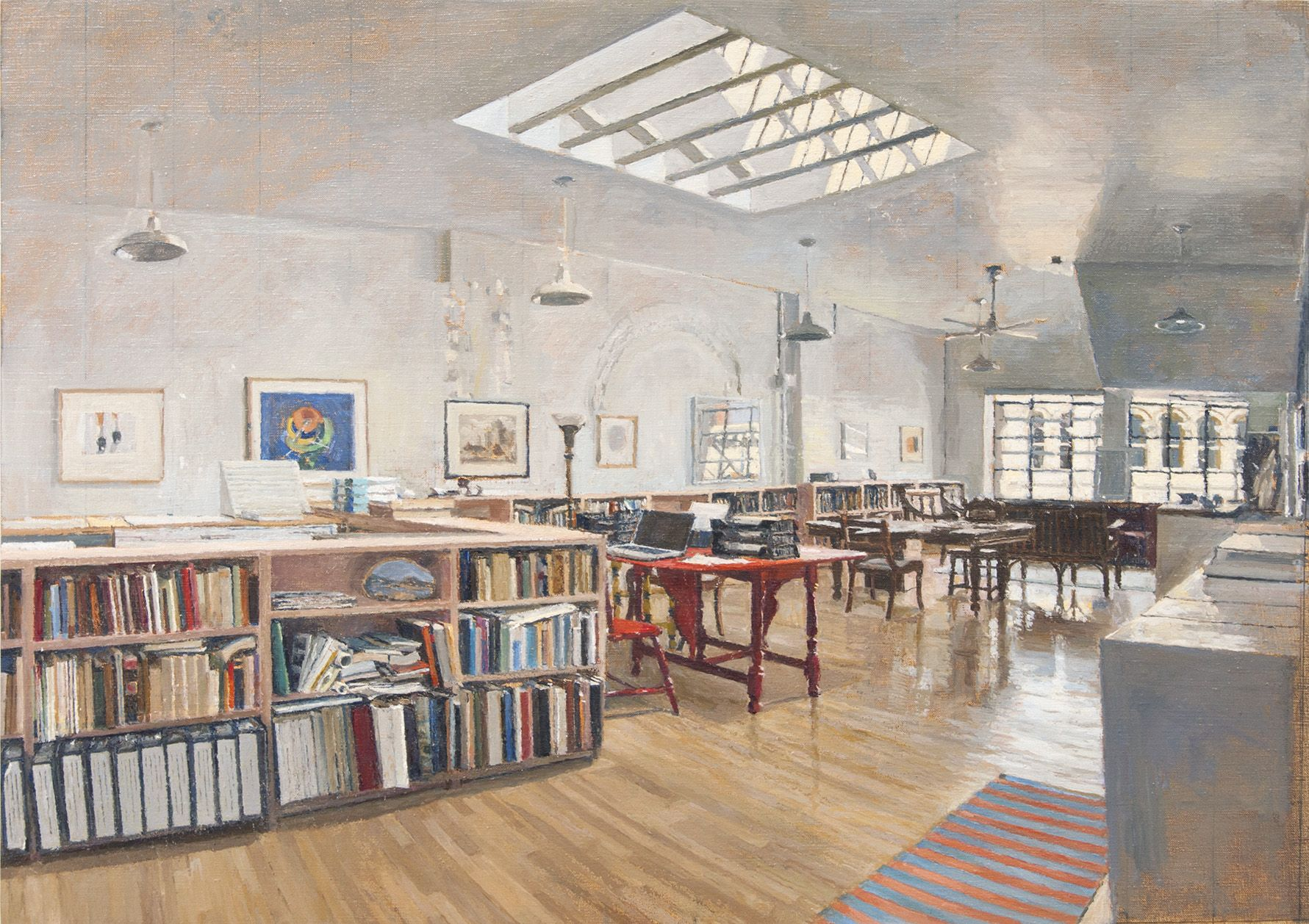 Skylit Loftspace, NYC (seated), 2015, Oil on Linen