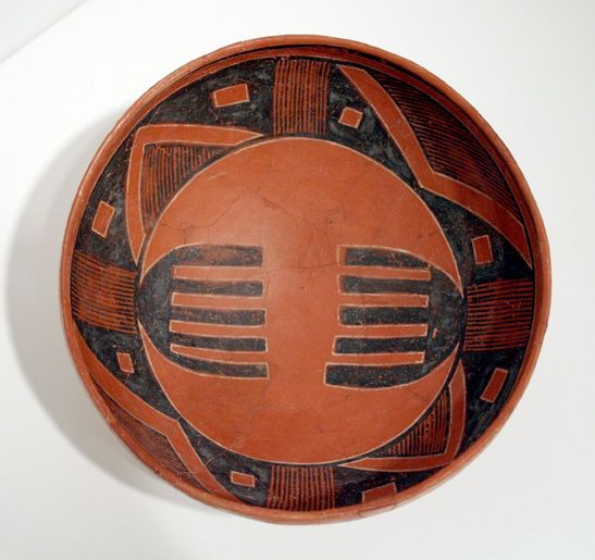 FOUR MILE POLYCHROME, BOWL WITH DESIGNS OF