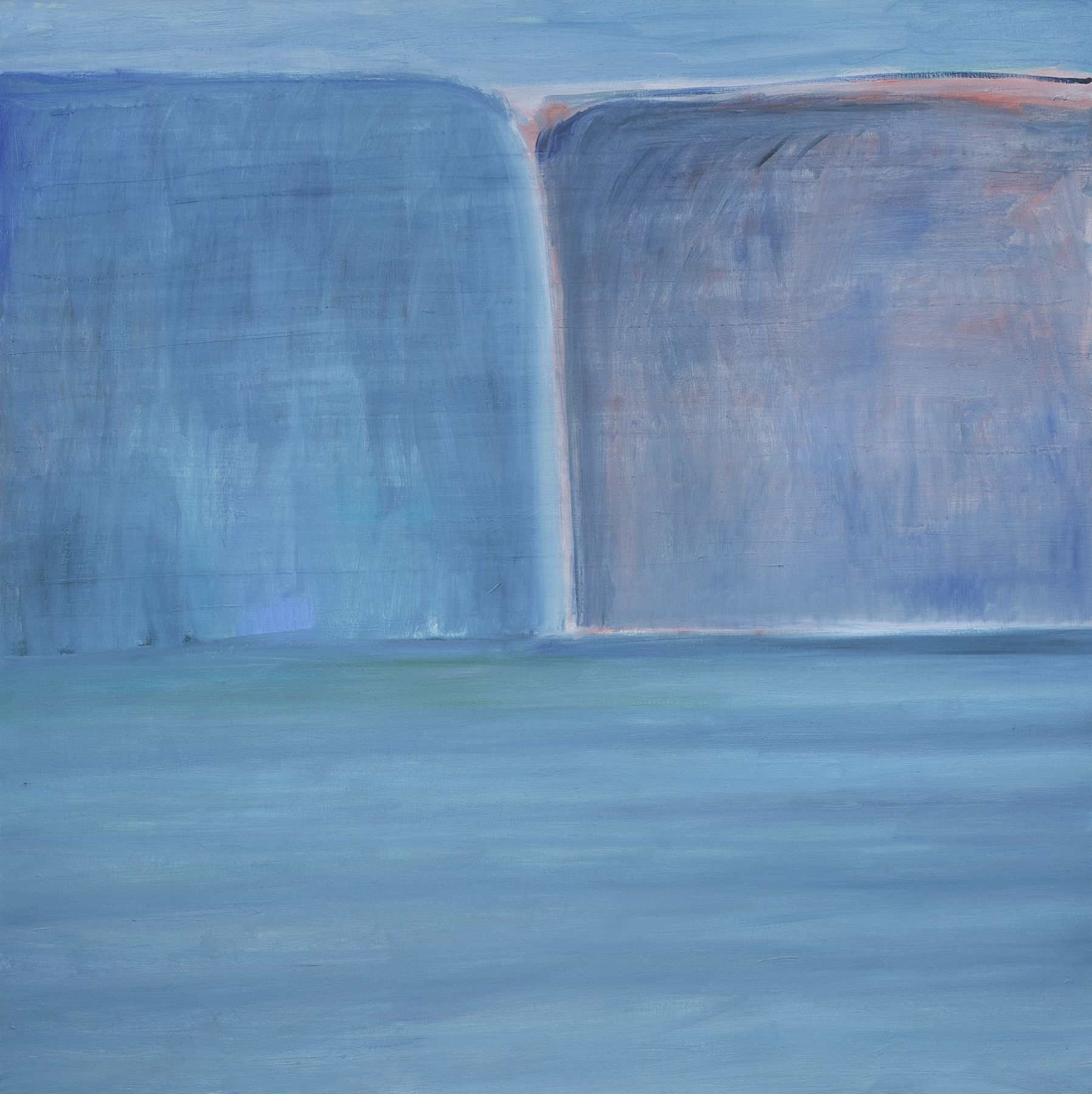 Ocean/Blue/Blue Cliffs, 1993-2018, Oil on Canvas