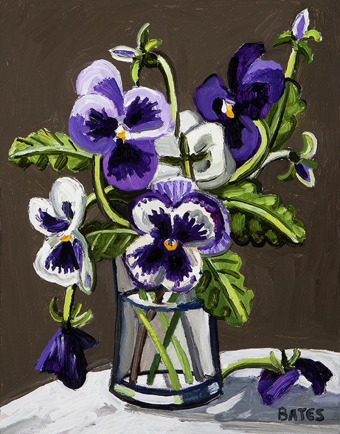 David Bates, Purple Violets, 2012
