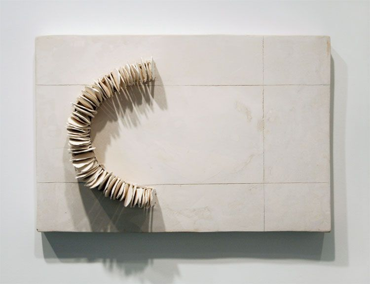 MAQUETTE I (FOR COURTYARD), 2008, plaster and ceramic
