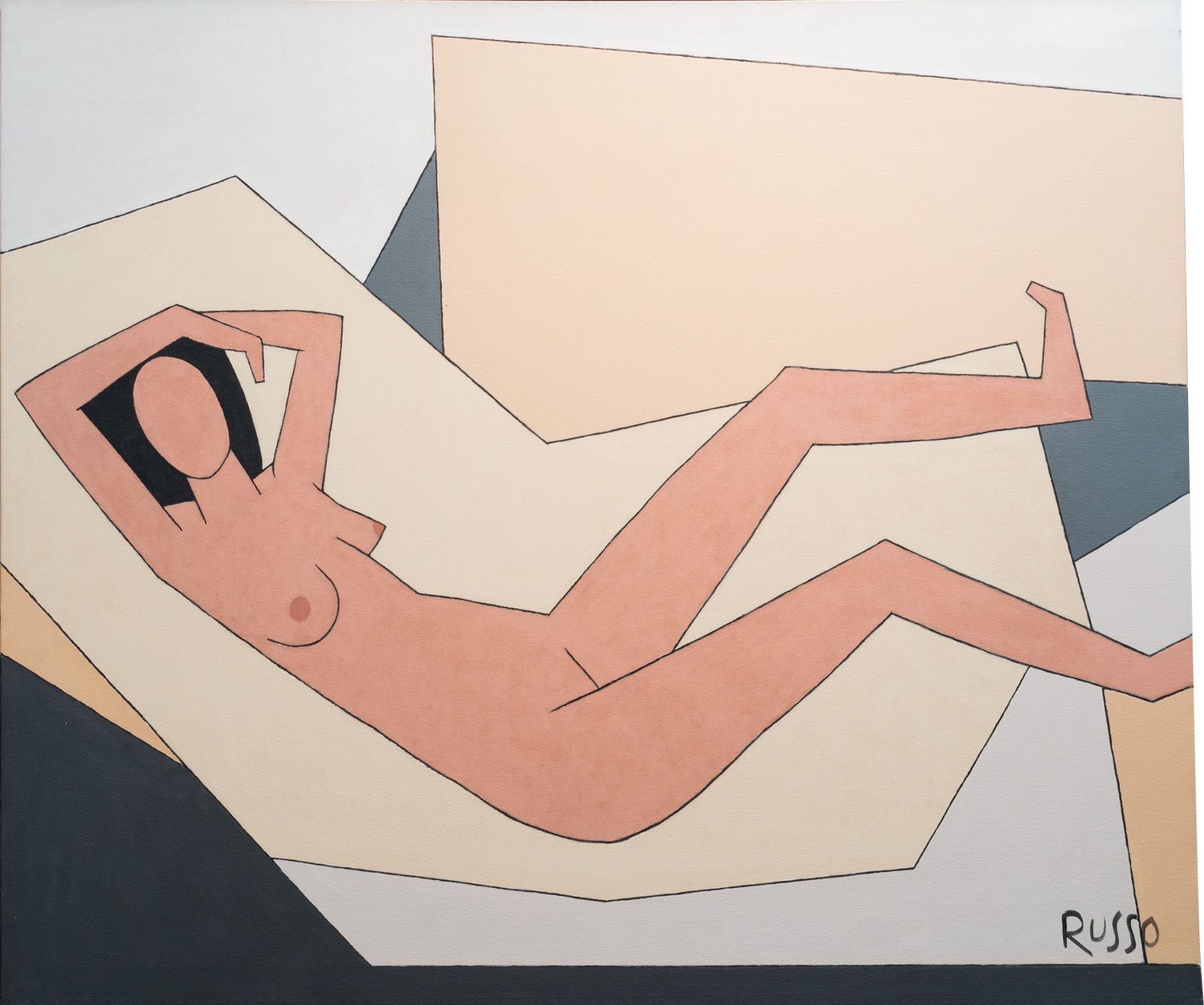 Russo - Nude in Geometric Environment