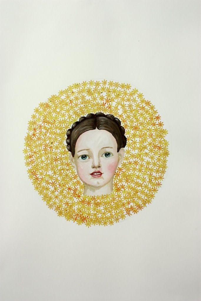 Saint Drawing Girl