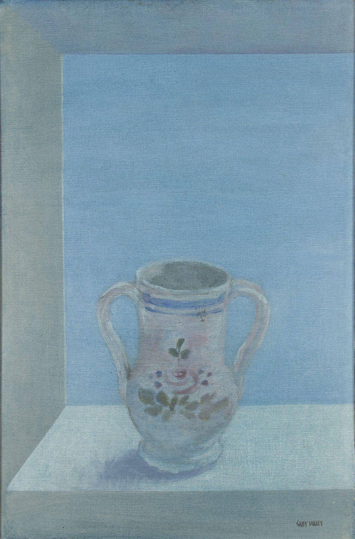 Sally Haley - vase on blue