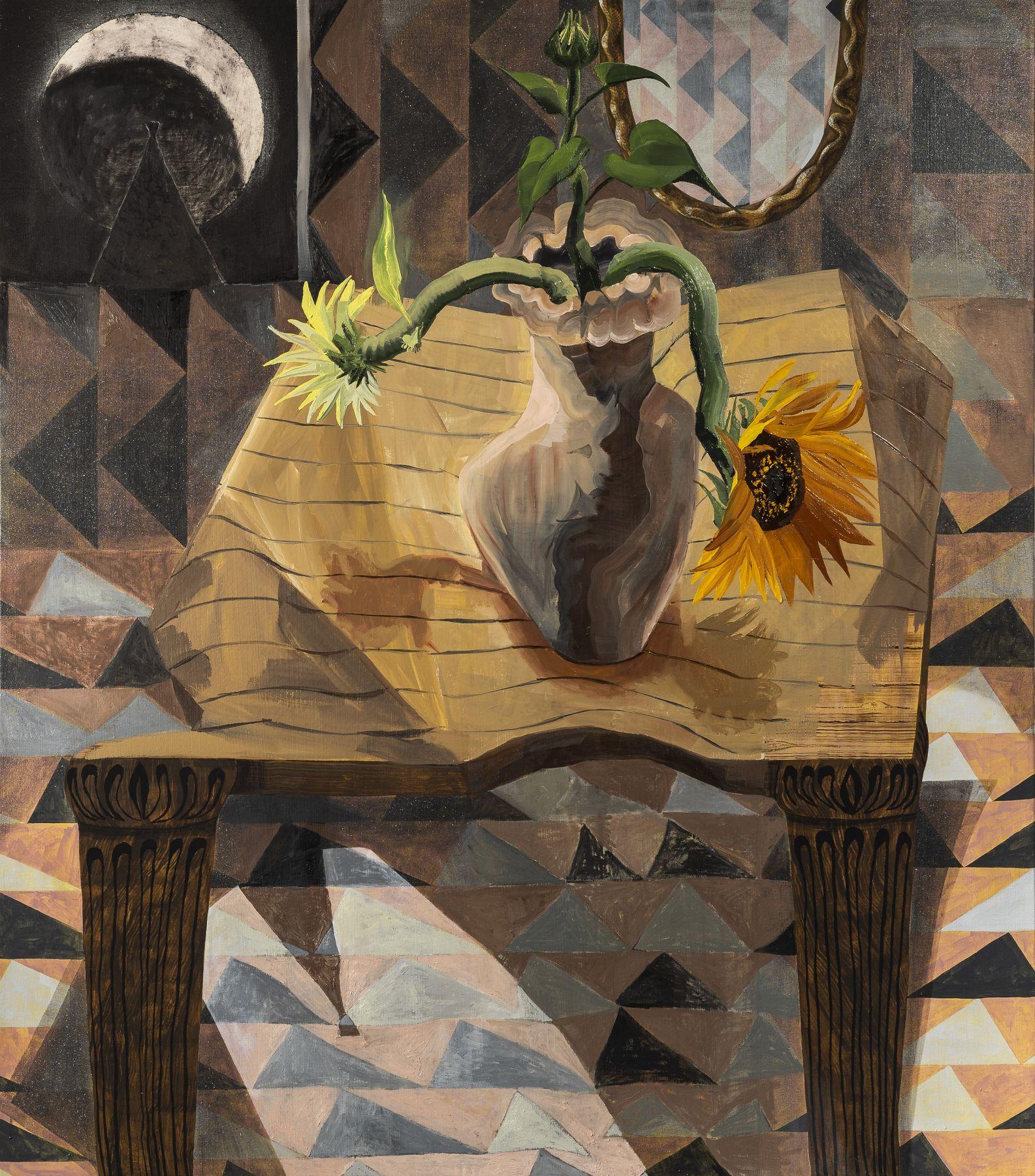 Malaska - Still Life with Moon and Flowers