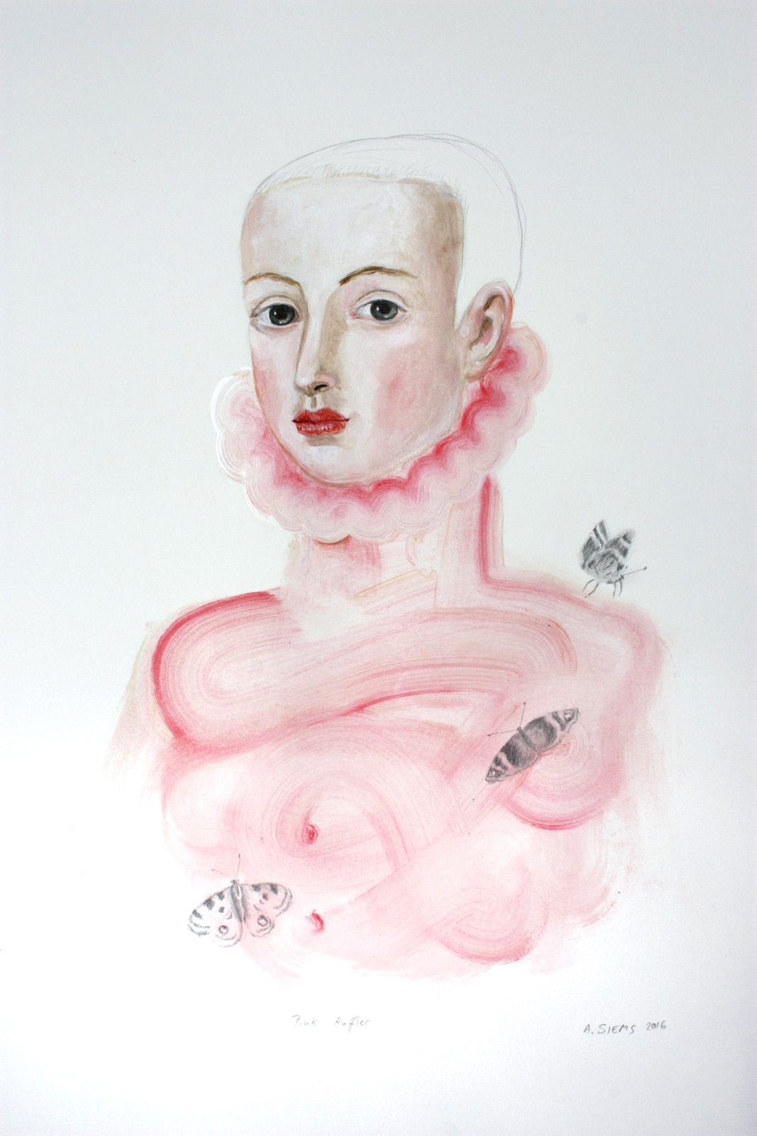 Siems - Pink Ruffles Drawing