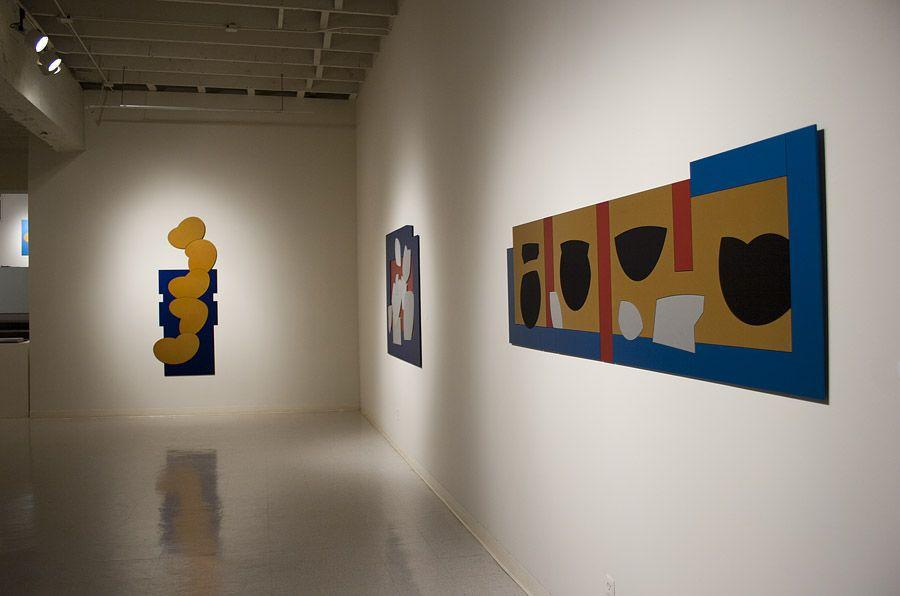 Mel Katz anodized aluminum at Laura Russo Gallery February 2012
