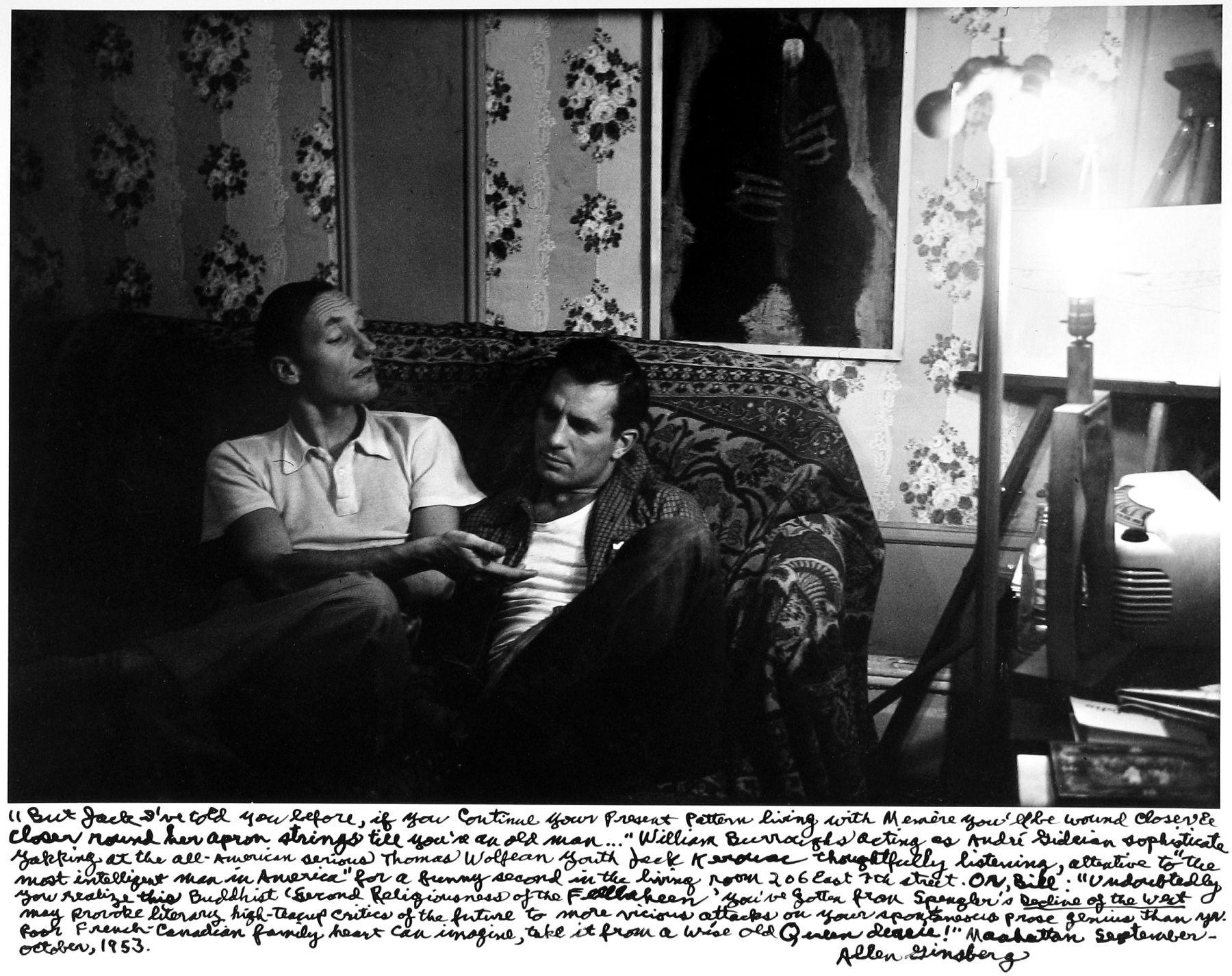 Allen Ginsberg - William S. Burroughs & Jack Karouac, New York, 1953 - Howard Greenberg Gallery