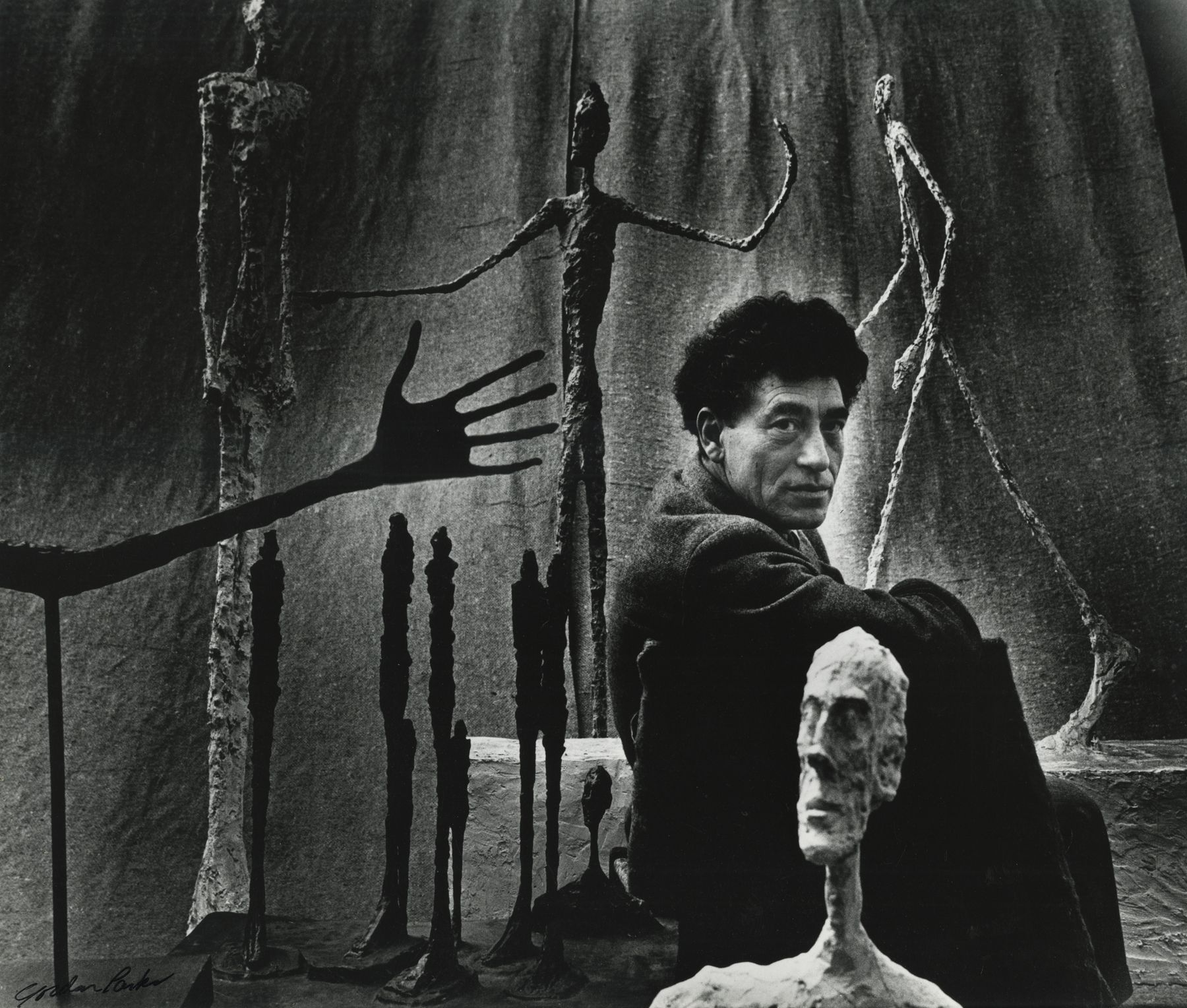 Gordon Parks - Alberto Giacometti and His Sculptures, Paris, France, 1951 - Howard Greenberg Gallery - 2019