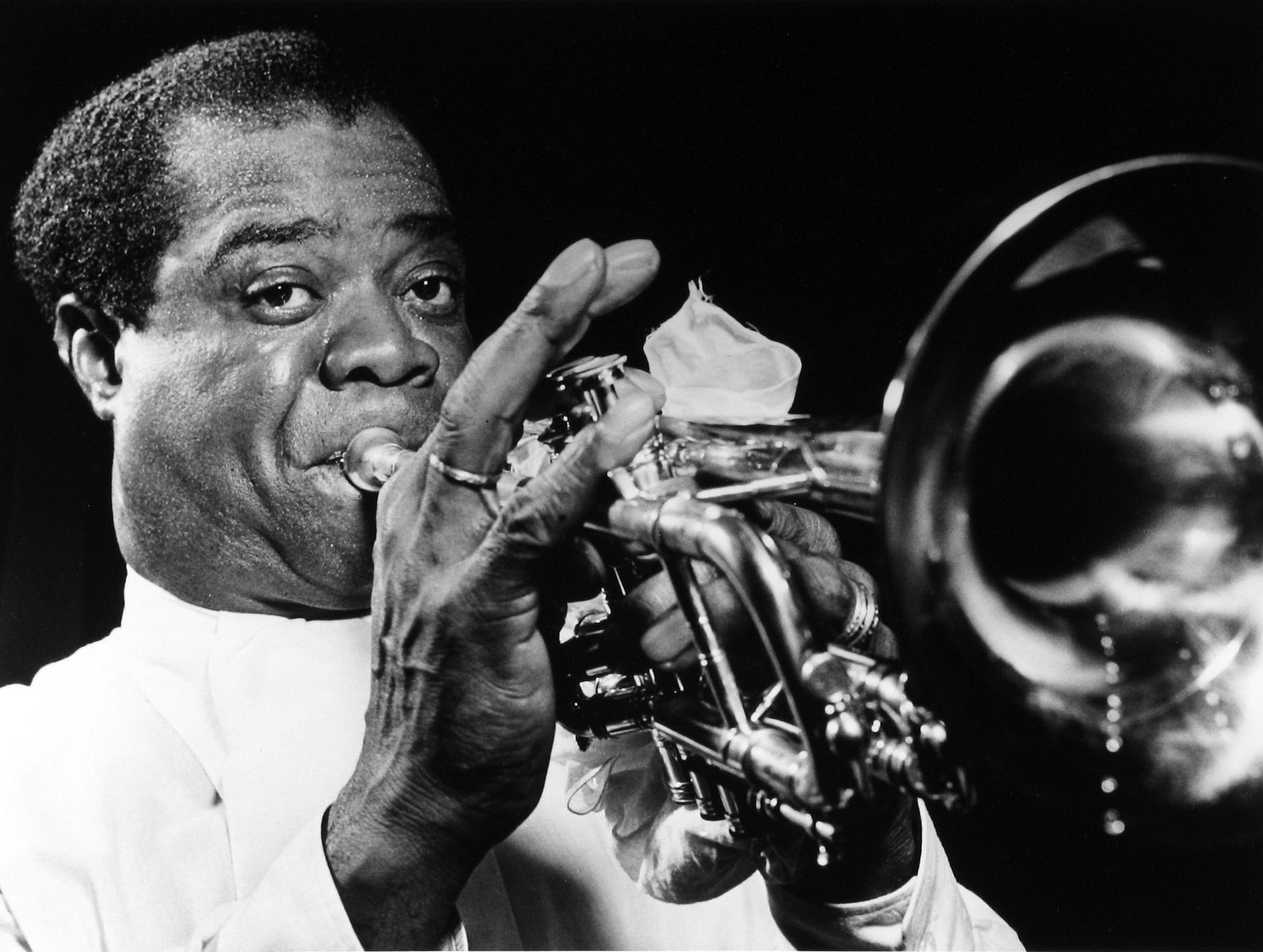 William Gottlieb - Louis Armstrong, c.1948 - Howard Greenberg Gallery