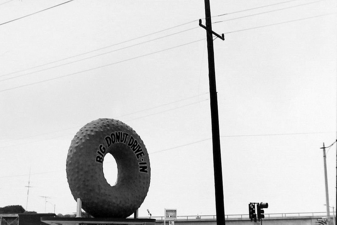 """Nathan Lyons - Big Donut Drive-In, Los Angeles (from """"Notations in Passing""""), 1962-74 - Howard Greenberg Gallery - 2018"""