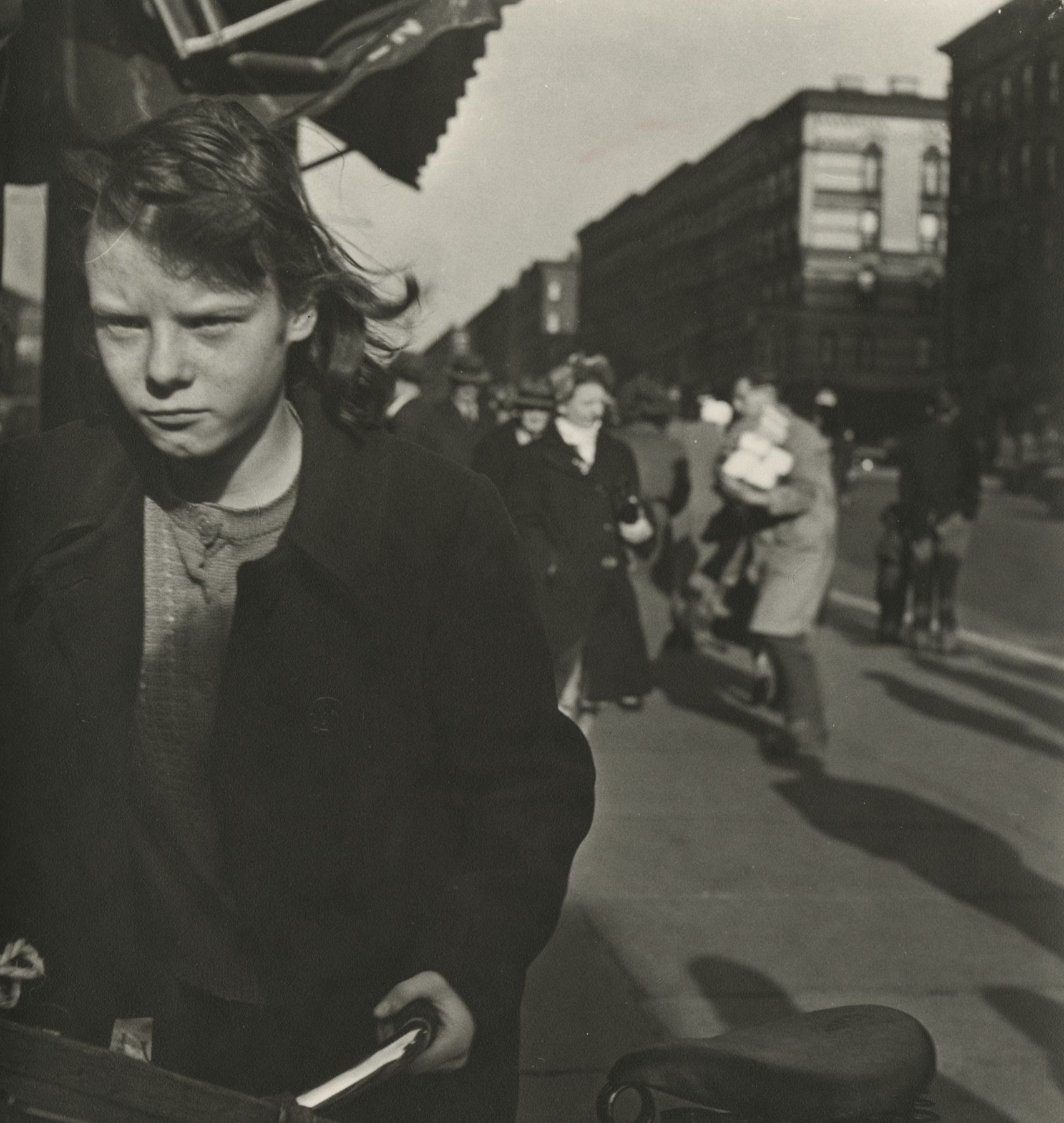 Sy Kattleson - Untitled (girl on bike), c.1948 - Howard Greenberg Gallery - 2018