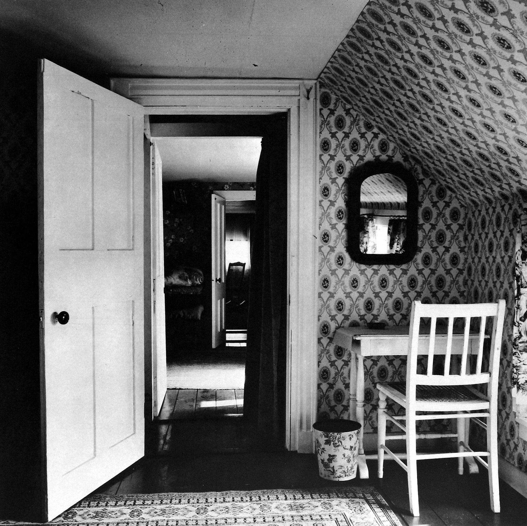 """Walker Evans - Upstairs Room, Walpole, Maine, 1962, from the portfolio """"Message from the Interior,"""" New York: Eakins Press, 1966 - Howard Greenberg Gallery - 2018"""