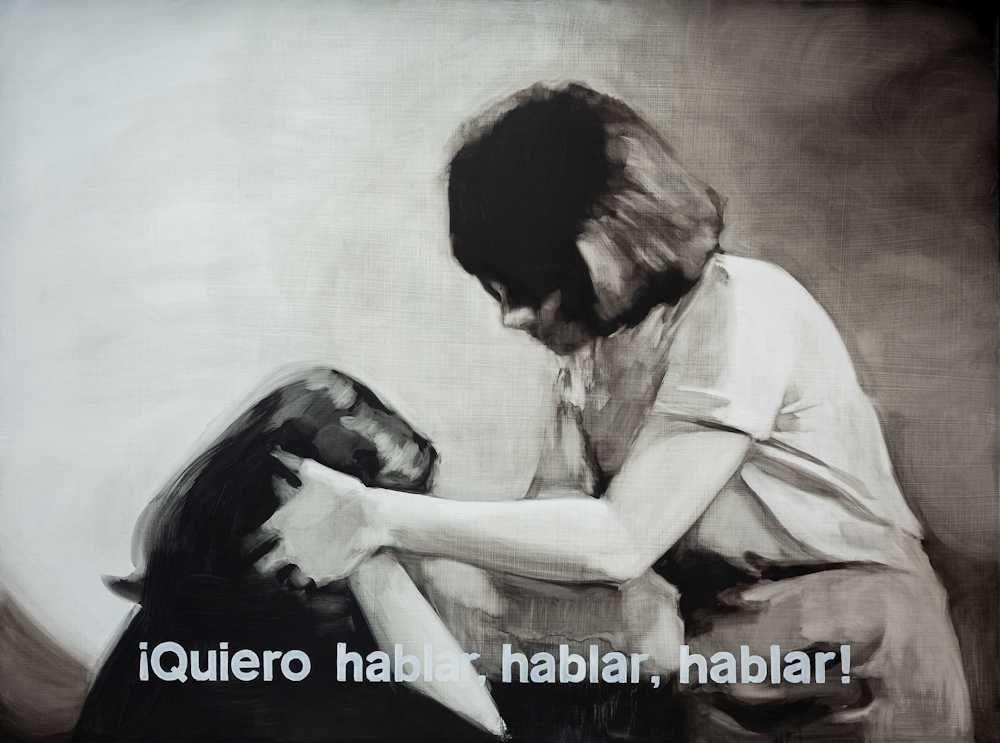 María Dávila Palabras incomprendidas I 2015 Dramatis personae painting peinture