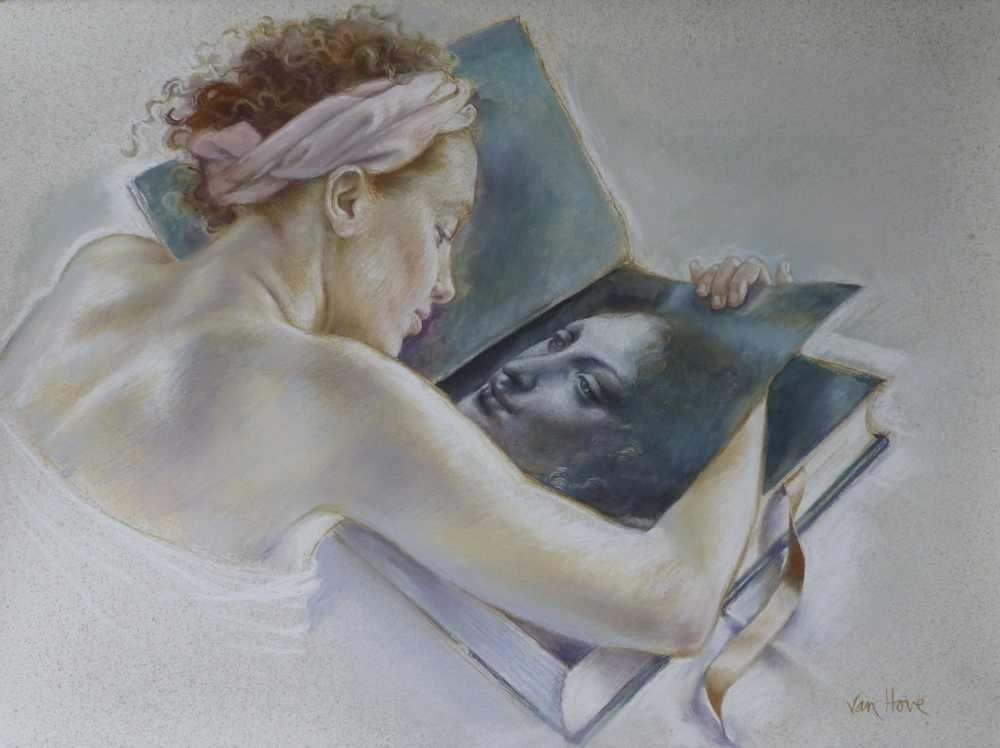 Francine Van Hove L'Ange de Léonard pastel