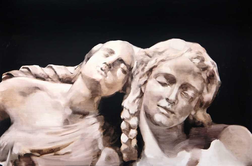 María Dávila les statues meurent aussi 2016 Post scriptum painting peinture