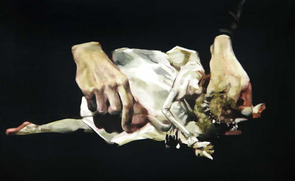 María Dávila Fantôme 2016 Post scriptum painting peinture