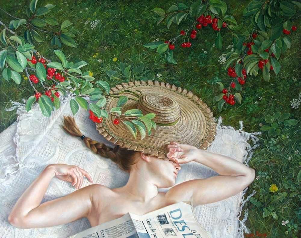 Francine Van Hove Le Temps des cerises 2012 painting peinture