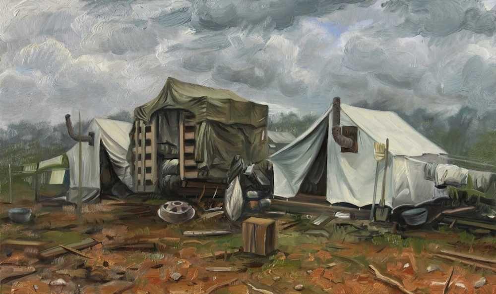 Demiak Memoirs of loss XIV 2016 painting peinture