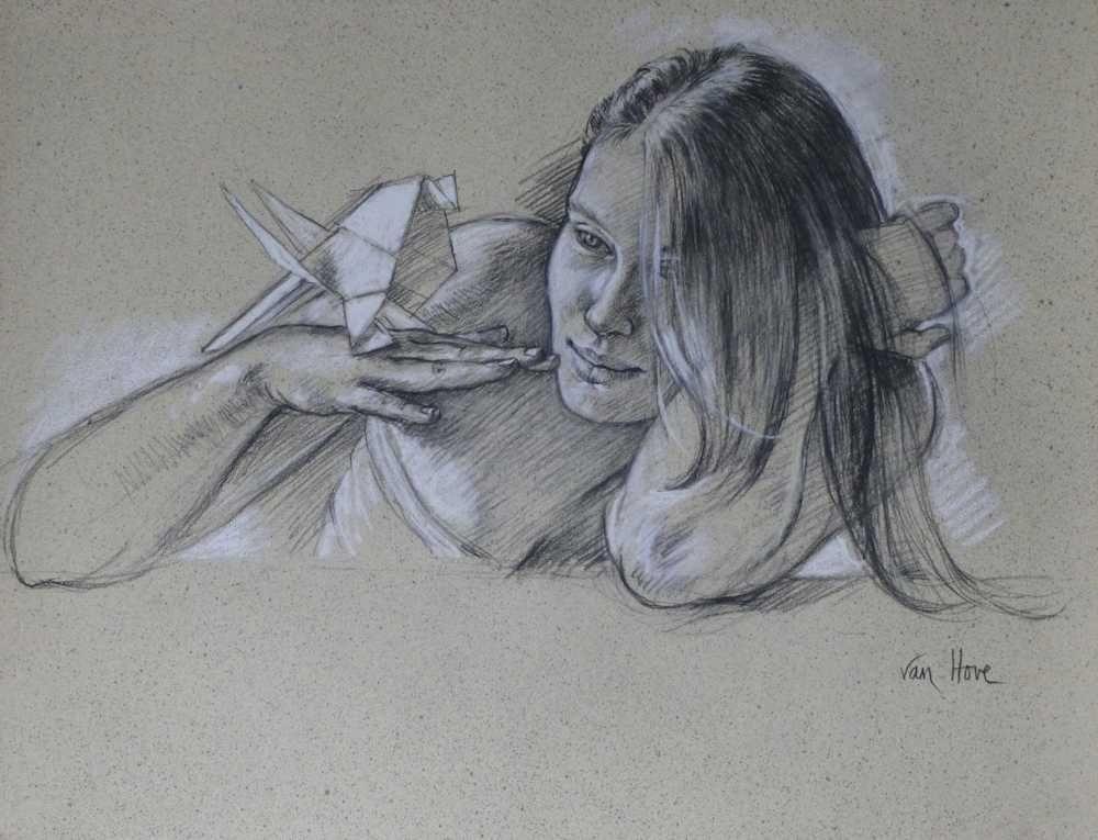 Francine Van Hove Prêt à décoller dessin drawing