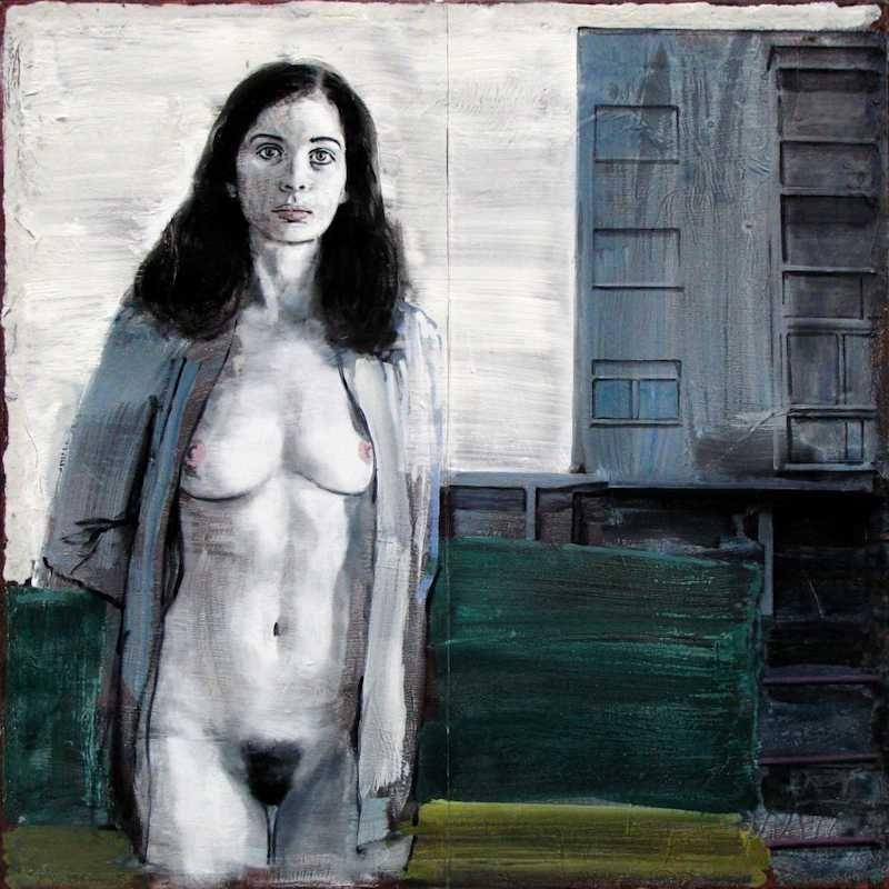 Pierre Lamalattie Parfois elle va se promener au clair de lune painting peinture