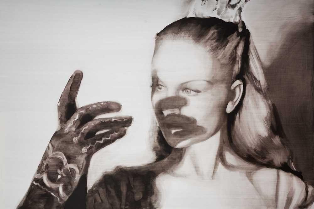 María Dávila Masque 2015 Dramatis personae painting peinture