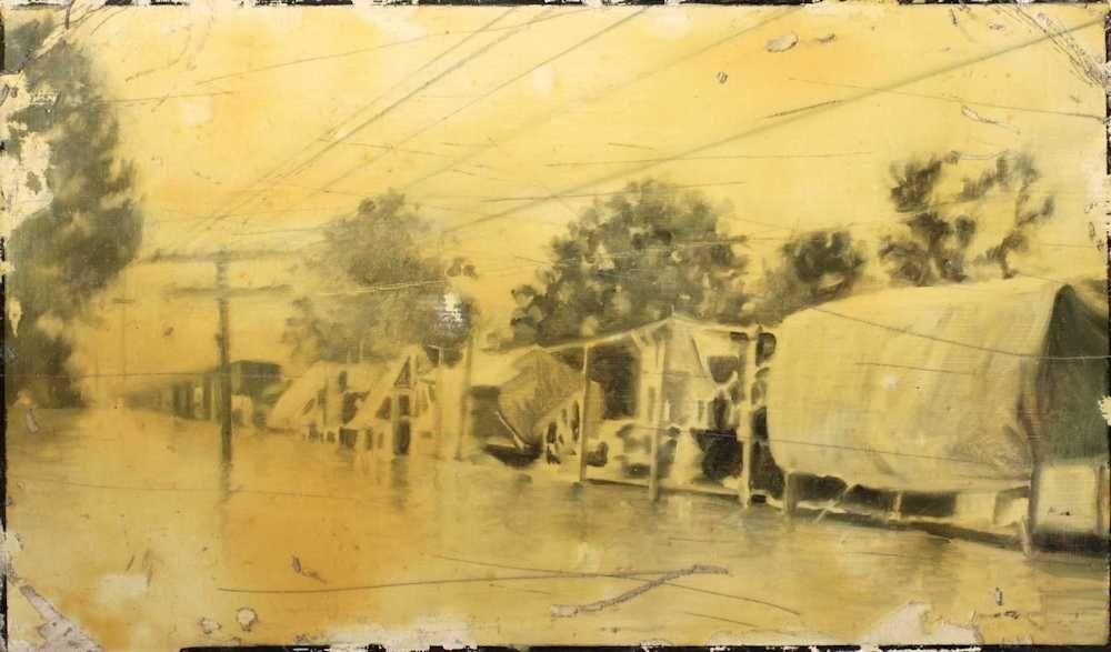 Demiak Blanton Mississippi 1927 2011 The Big Blow painting peinture