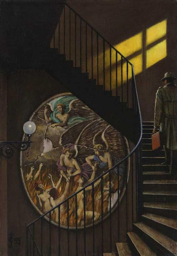 Sergio Ceccotti Purgatorio 1995 painting peinture
