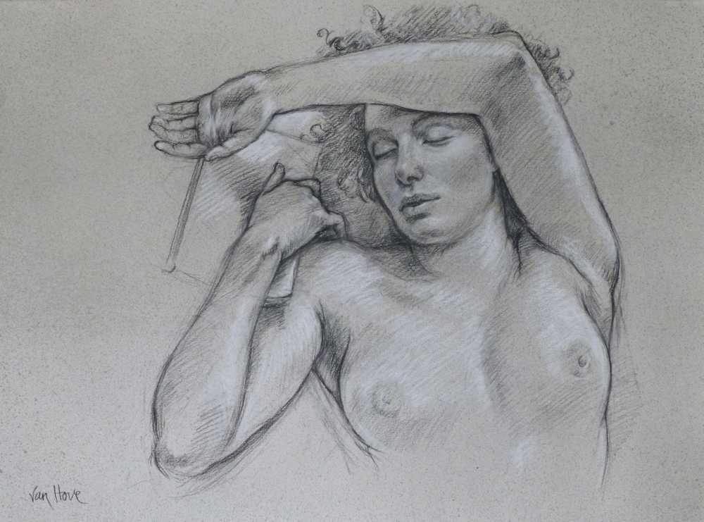 Francine Van Hove Sommeil profond dessin drawing