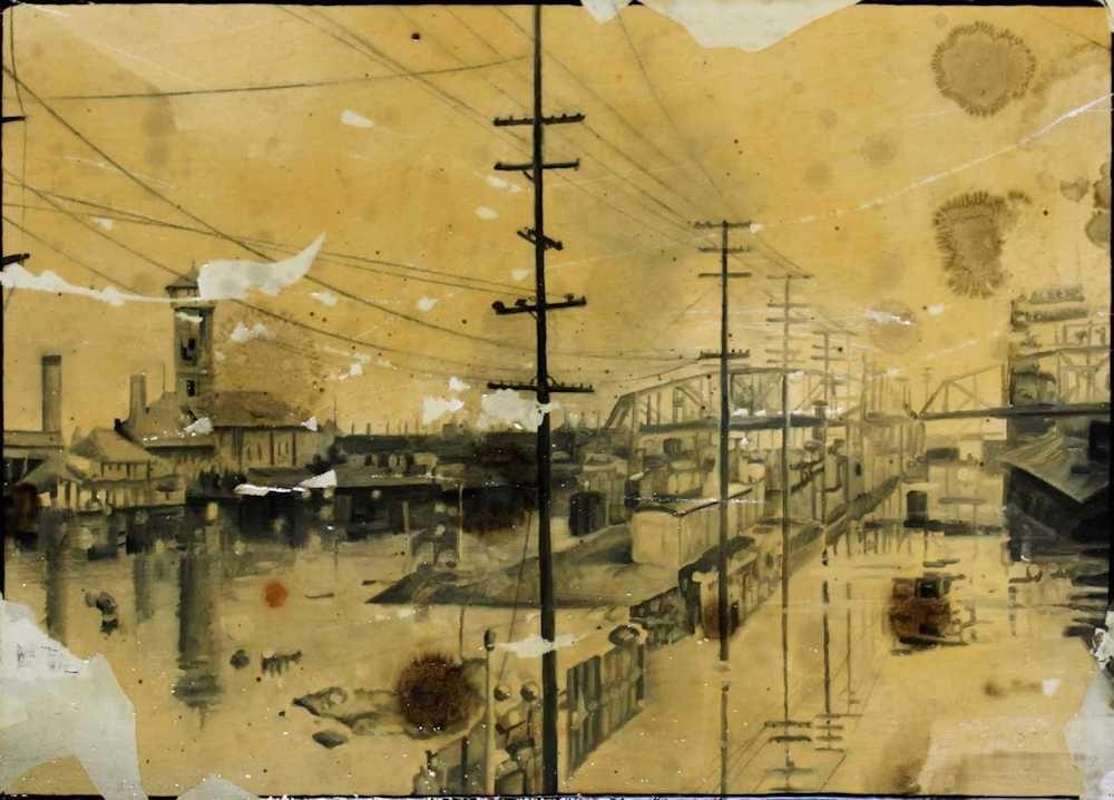 Demiak Columbia River 1948 2011 The Big Blow painting peinture