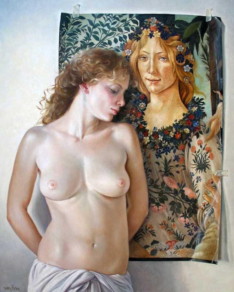 Francine Van Hove Les Deux belles 2012 painting peinture