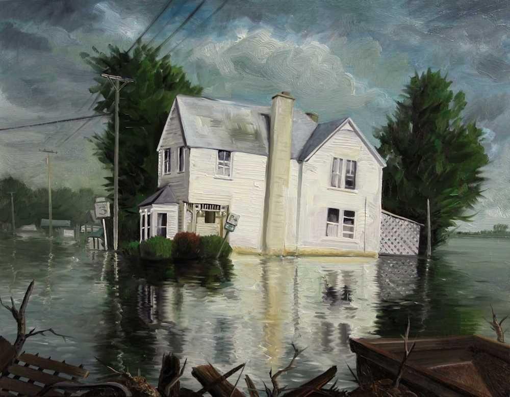 Demiak Memoirs of loss X 2015 painting peinture