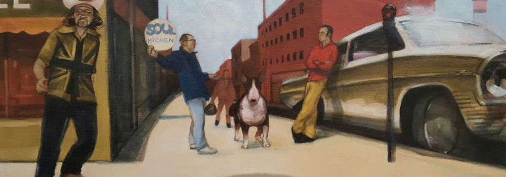 Ray Richardson You do the Hokey Cokey painting peinture