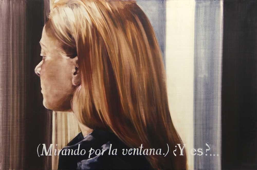 María Dávila L'Autre côté 2016 Post scriptum painting peinture