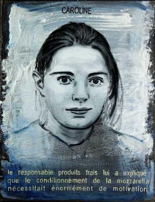 Pierre Lamalattie Caroline 2014 curriculum vitae painting peinture
