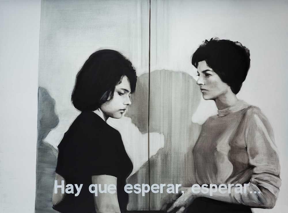 María Dávila Palabras incomprendidas II 2015 Dramatis personae painting peinture