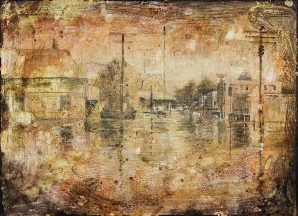 Demiak Hollandale Mississippi 1927 2011 The Big Blow painting peinture