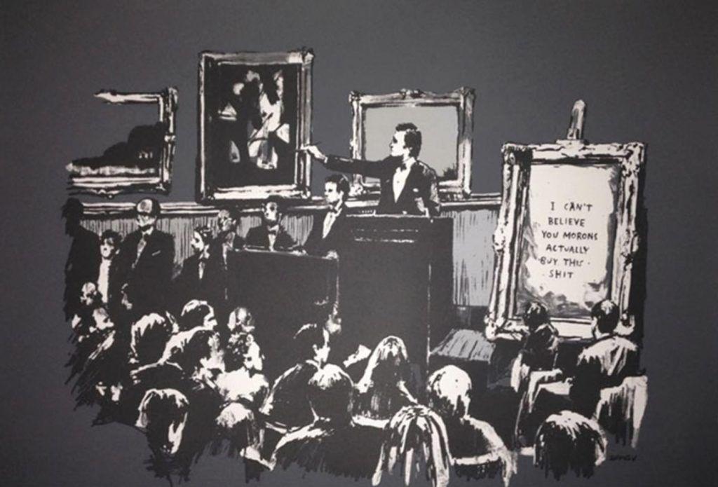 Banksy (b. 1974)  Morons (Grey), 2006